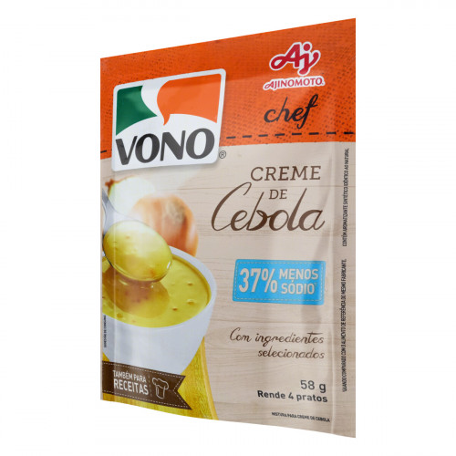 Creme Cebola 37% Menos Sódio Vono Chef Sachê 58g