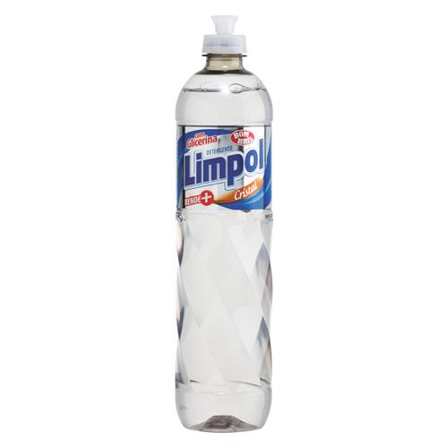 Detergente Líquido Cristal Bom Bril Limpol Frasco 500ml