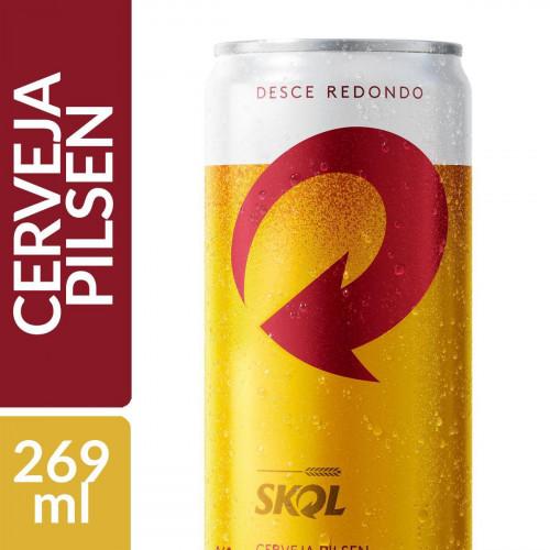 Cerveja Skol 269 ml Lata